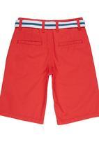 Retro Fire - Boys Twill Shorts Coral