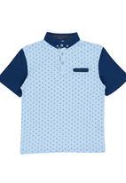 Retro Fire - Boys Golfer Pale Blue