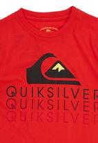 Quiksilver - Printed Tshirt Red