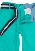 Retro Fire - Boys Twill Shorts Green