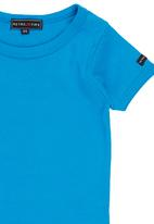 Retro Fire - Boys Muscle Hugger Turquoise
