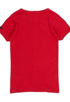 Retro Fire - Boys Muscle Hugger Red