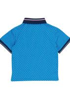 Retro Fire - Boys Golfer Turquoise