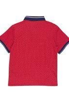 Retro Fire - Boys Golfer Red
