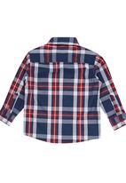 Retro Fire - Boys Check Shirt Grey