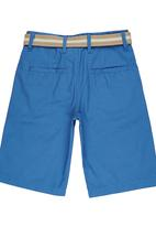 Retro Fire - Boys Twill Shorts Mid Blue