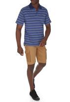 JEEP - Short Sleeve Yarn Dye Golfer Navy Navy