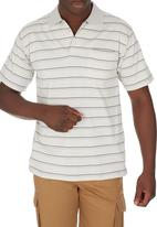 JEEP - Short Sleeve Yarn Dye Golfer Stone Stone/Beige