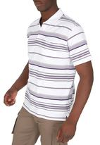 JEEP - Short Sleeve Yarn Dye Golfer White White