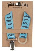 Pickalilly - Mustache dummy chain Mid Blue Mid Blue