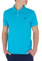 POLO - Mens Classic Custom Fit SS Golfer Blue Mid Blue