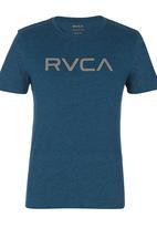 RVCA - Big RVCA Marle STD Tee Mid Blue