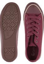 Cutty - Mono Sneaker Dark Red