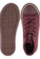 Cutty - Hi-Top Mono Sneaker Dark Red