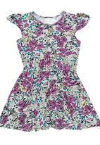 See-Saw - Frill sleeve dress Multi-colour