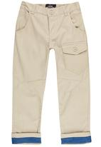 POP CANDY - Twill Trousers Stone