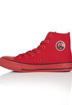 Cutty - Hi-Top Mono Sneaker Red