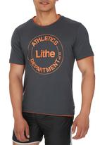 Lithe - Single Jersey Colourtip Tee Dark Grey