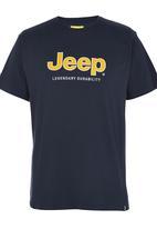 JEEP - Logo Applique T-Shirt Navy