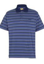 JEEP - Stripe Short-Sleeve Golfer Navy