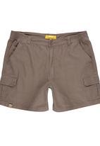 JEEP - Half Elasticated Short Mid Brown