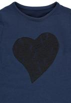 Rebel Republic - Sweater With Lace Heart Applique Navy