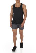 70s Running Shorts Dark Grey Edge Sweatpants