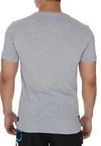 Rip Curl - Graphic T-Shirt With Palm Print. Grey