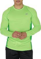 New Balance  - New Balance Accelerate Long-sleeve Top Light Green Light Green