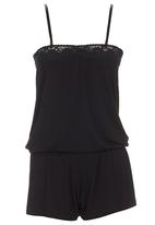 edge - Lace Boobtube Jumpsuit Black