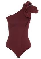 Gert-Johan Coetzee - Frill Bodysuit Red