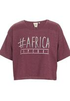 Rip Curl - Hashtag Africa T-shirt Red