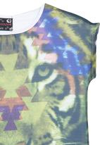 POP CANDY - Tiger-print T-shirt Multi-colour
