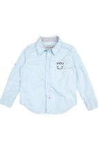 GUESS - Boys Structured Shirt Blue