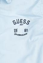 GUESS - Boys Structured Shirt Blue