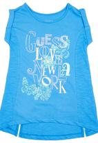 GUESS - High-low Top Mid Blue