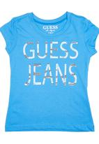 GUESS - Logo Stud T-shirt Mid Blue