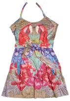 Smash - Girls Dress with Parrot-print Multi-colour