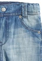 Phoebe & Floyd - Enzyme-washed 5-pocket Jeans Mid blue