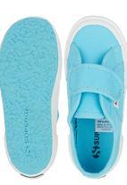SUPERGA - Velcro Strap Sneaker Turquoise