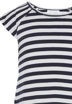 See-Saw - Stripe Top Blue and White