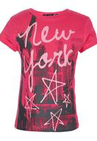 POP CANDY - New York Top Dark Pink