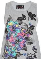POP CANDY - Tropical Print Tshirt Grey