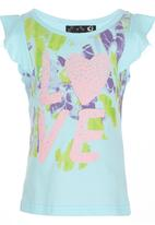 POP CANDY - Love Tshirt Turquoise