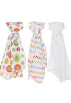 Little Co. Baby - 3 Pack Muslin Blanket Set Multi-colour
