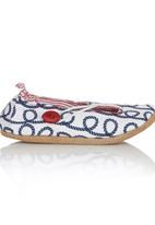 Myang - Keyhole Loafer Blue and White