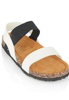 Rock & Co. - Girls Sandal Black and White