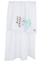 Myang - Heart Print Blanket White