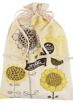 Myang - Boat Print Blanket White