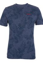 SOVIET - Short Sleeve All Over Print Tee Blue Mid Blue